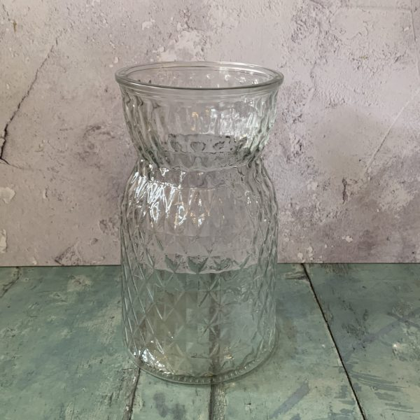 diamond cut glass vase
