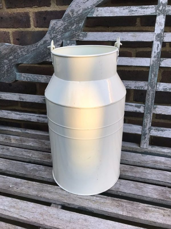 Cream Zinc Milk Churn with Handle