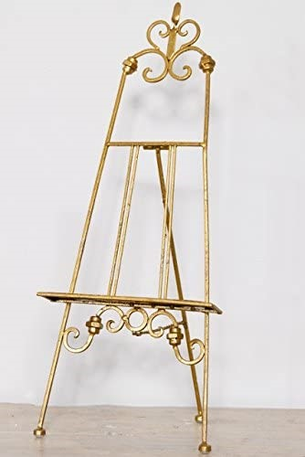 Small Gold Table Antique Easel