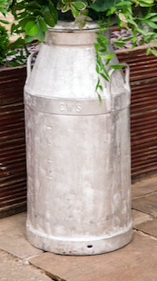 Large Traditional Original Milk Churn With Lids