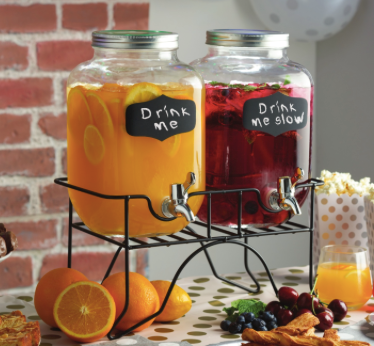 Double mason jar drinks dispenser