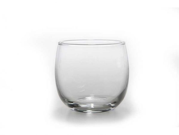 Rounded Simple Glass Tea Light Holder